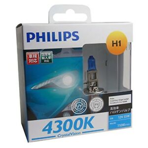 New Philips Hb4 9006 Crystal Vision 4300k White Halogen Bulbs With Tracking