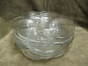 1950 S Duncan And Miller Clear Glass Canterbury Pattern Luncheon Size Plate Lot