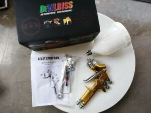 Devilbiss Gti Pro Golden Spray Gun Paint High Efficiency Te10 1 3mm Nozzle Gun