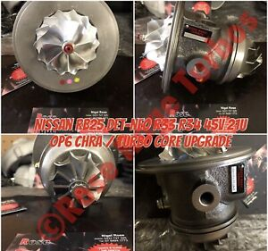 Rb25 R33 Nissan 45v Rebuilt upgraded Turbo Chra Direct Fit To Housings By Rrt