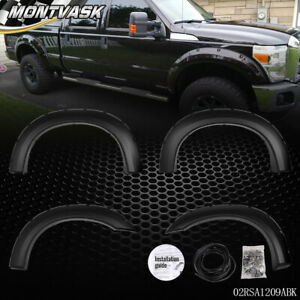 For 1999 2007 Ford F250 F350 Super Duty Bolt on Rivet Pocket Style Fender Flares