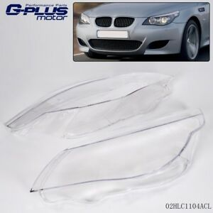 Headlight Headlamp Lens Light Cover For Bmw 5 Series 525i 530i 535i 550i E60 E61