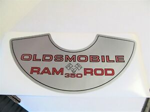 1969 Olds Cutlass 442 F 85 Vista Cruiser W 31 ram Rod 350 Air Cleaner Decal