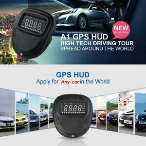 2 0 A1 Car Head Up Display Hud Gps Mph kmh Over Speed Warning Speedometer L0h6v