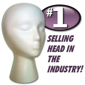 12 Pack Hairess Styrofoam Foam Mannequin Wig Head Display Mannequin Display