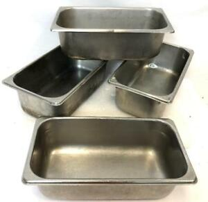 Bundle 4 Vollrath Polar 1 3 4 Deep Stainless Restaurant Pan Pans Steam Table