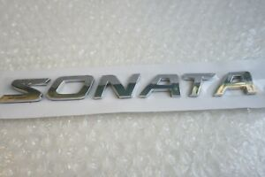 Hyundai Sonata Word Emblem 2003 2017 Trunk Nameplate Rear Chrome Logo Badge
