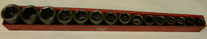 Mac Tools 1 2 Drive 15pc Sae Shallow 6pt Impact Socket Set 3 8 1 1 4 svp156tr