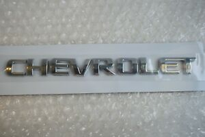 Chevrolet Chevy Word Emblem 1990 2017 Trunk Nameplate Rear Tailgate Lift Logo