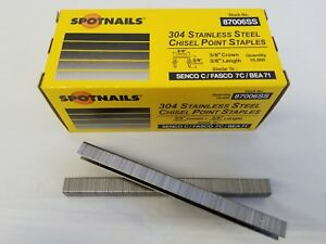 Stainless Steel Staples 3 8 Crown By 3 8 Stainless Steel C06 10 000 box