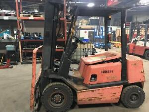 1994 Yale 5000 Pound Forklift pneumatic budget lift 15 Feet gas we Will Ship ss