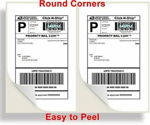Premium Shipping Labels 8 5x5 5 2 Per Sheet Self Adhesive Usps Ups Fedex Paypal