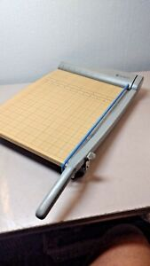 Quartet Model 9115 Wooden Guillotine Paper Cutter Was Used Once Excellent Sharp