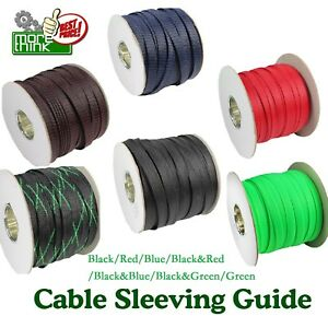 You Choose Hot Size Colors Expandable Cable Sleeving Braided Sleeve Lot