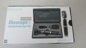 Serenelife 2 in 1 Ophthalmoscope Otoscope Kit Fiber Optic Digital Bright Led