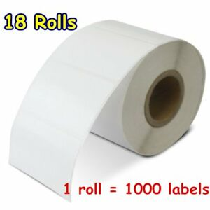 18 Rolls 2 25 X 1 25 Direct Shipping Thermal Barcode Labels Zebra Lp2824 Gx420d