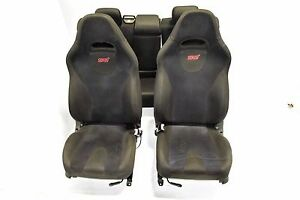 Jdm Forester Sti Black Suede Seats Front Rear Seats With Rails Sg5 Fsti Ej255