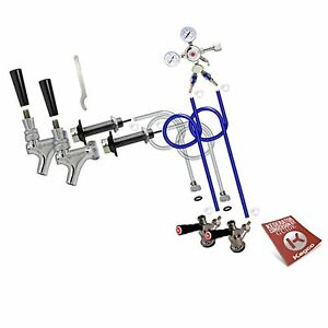 Kegco Bf 2sck Standard Two Keg Door Mount Kegerator Beer Tap Conversion Kit