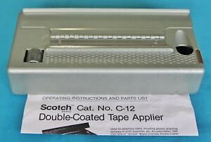 Scotch Double Coated Tape Applier No C 12 With Instructions Vintage