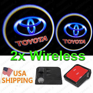 2 Pcs Wireless Courtesy Car Logo Door Light Ghost Led Laser Projector For Toyota