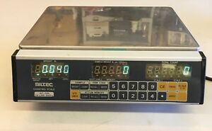 Siltec Ec10l 10x0 002lb Laboratory Benchtop Digital Counting Scale Used
