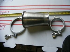 Tri Clover 4 To 3 Reducer Pipe W Clamps