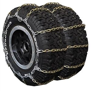 Dual triple Truck Snow Square Link Alloy Tire Chain 245 70r19 5 245 70 19 5