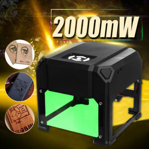 2000mw Laser Usb Desktop Machine Engraver Engraving Diy Cnc Cutter Printer