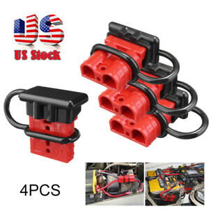 4x 50a Battery Quick Connect Disconnect Kit Wire Harness Plug For Car Winch Usa