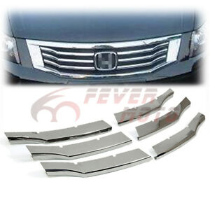 Chrome Front Center Grille Insert Trims For Honda Accord 4dr 2008 2009 2010 Fm