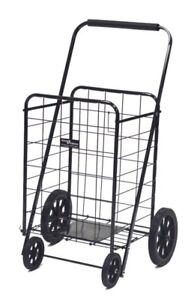 Easy Wheels Collapsible Steel Shopping Cart 250 Lb Weight Capacity Black