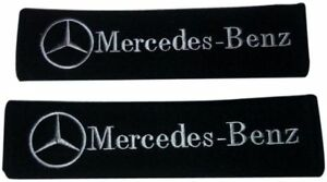 2x Embroidery For Mercedes Benz Racing Cotton Seat Belt Cover Shoulder Pad