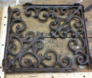 2 Shelf Brackets Brace Cast Iron Rustic Vintage Antique Style 9 1 2x9 1 2 Wall