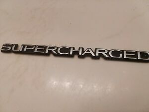 Supercharged Buick Rear Emblem Gm Oem Hot Rat Rod Nice Chrome