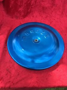 Vintage Moroso Air Cleaner Anodized Blue Vintage Racing Chevu 350 327 4 Barrel