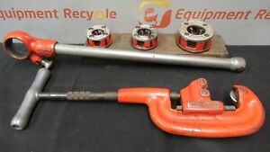 Ridgid 00 r 202 Manual Pipe Threader Cutter Ratchet Ratcheting Die Head Set