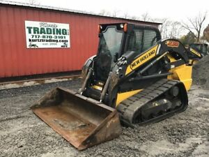 2013 New Holland C238 Compact Track Skid Steer Loader W Cab 2 Speed High Flow