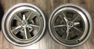 1969 1970 Shelby Gt 350 Gt 500 Mustang Factory 15 Alloy Wheels Set Of 2