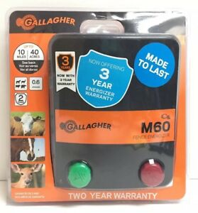 new Gallagher Electric Fence Charger M60 0 6 Joules G383414
