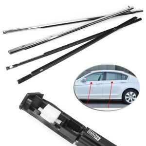 Outside Window Moulding Weatherstrip Fl Fr Rl Rr For Accord 2003 07 Chrome Auto