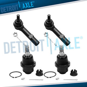 Front Lower Ball Joints Outer Tie Rods Escalade Avalanche Silverado 1500