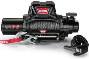 Warn 96805 Vr8s 8000lb Winch 12v Hawse Fairlead 90 3 8 Synthetic Rope