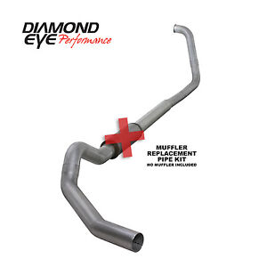 Diamond Eye 5 Turbo back Exhaust No Muff For Ford Powerstroke 6 0l No Cat 03 07