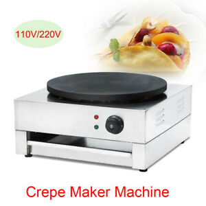 Crepe Maker Electric Machine Pancake Griddle Non stick Pan Cooking Breakfast 3kw