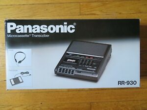 Panasonic Rr 930 Desktop Cassette Transcriber Recorder Never Been Used