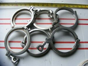 Lot Of 6 4 Tri Clover Clamps