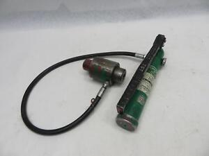 Greenlee 767 Hydraulic Manual Hand Pump For Punch Driver W hose