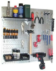 Steel Pegboard Panels Garage Tool Organizer Wall Storage Galvanized Durable