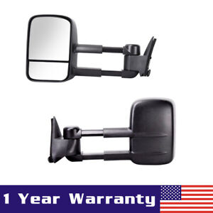 Power Towing Mirrors L r For 1988 1998 Chevy gmc C10 1500 2500 Pickup Truck