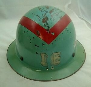 Vintage Msa Fiberglass Hard Hat W Lining Decals South Works Cable Etc L k